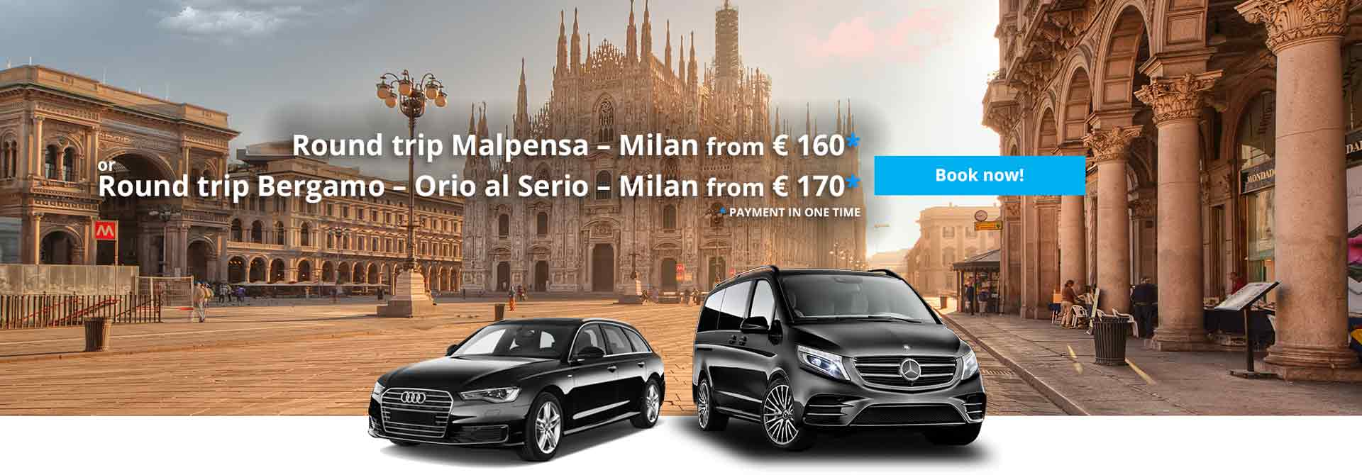 Private taxi to Milan airports